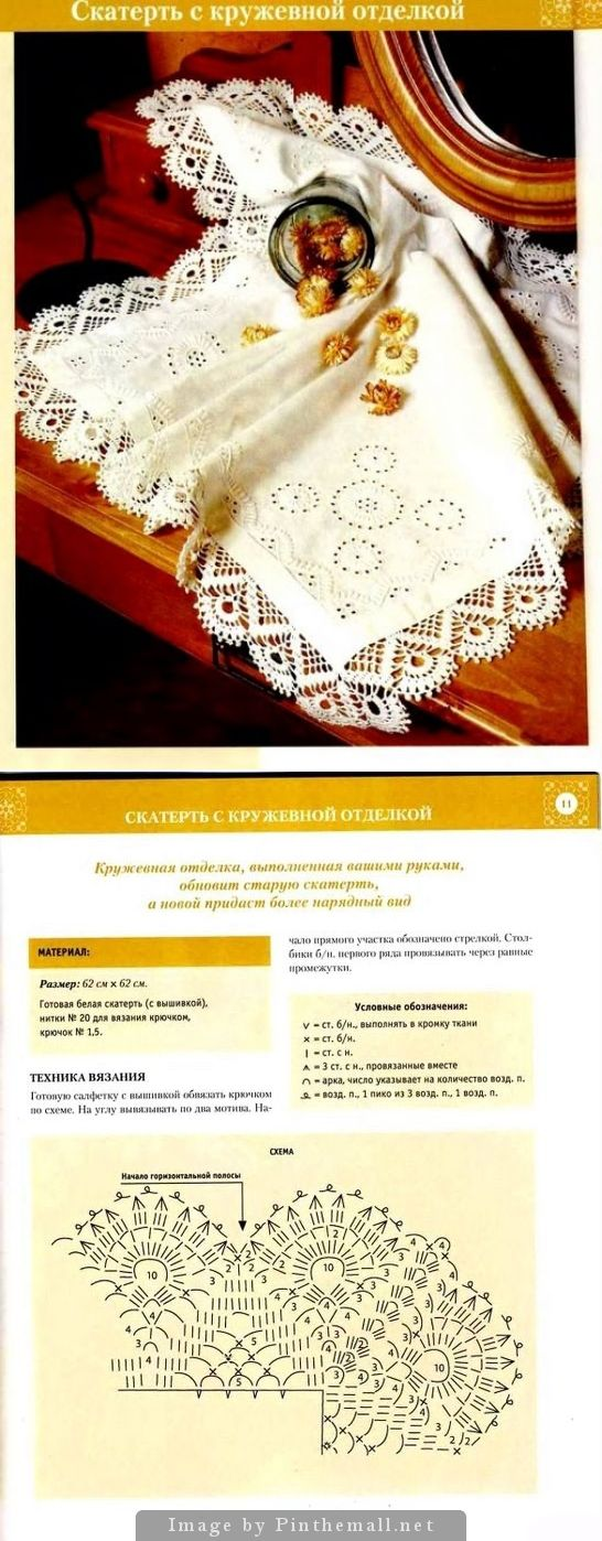 Crochet edging ~~ http://www.liveinternet.ru/users/tatiana59/post200164573/