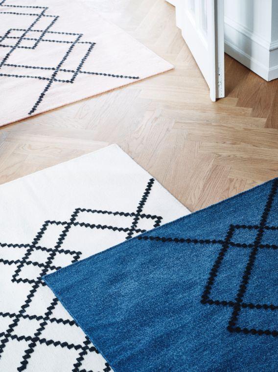 Handvoven 100% wool rugs by LOUISE ROE COPENHAGEN SS16