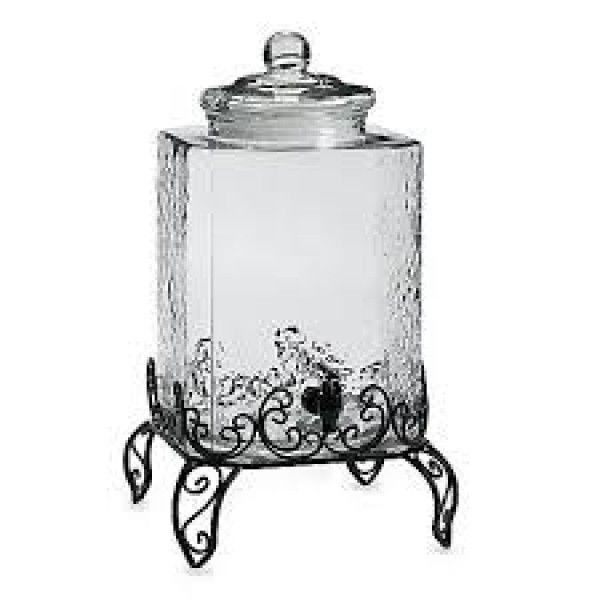 Диспенсер стеклянный с металлической подставкой 18 л Verona Circleware 1513.00