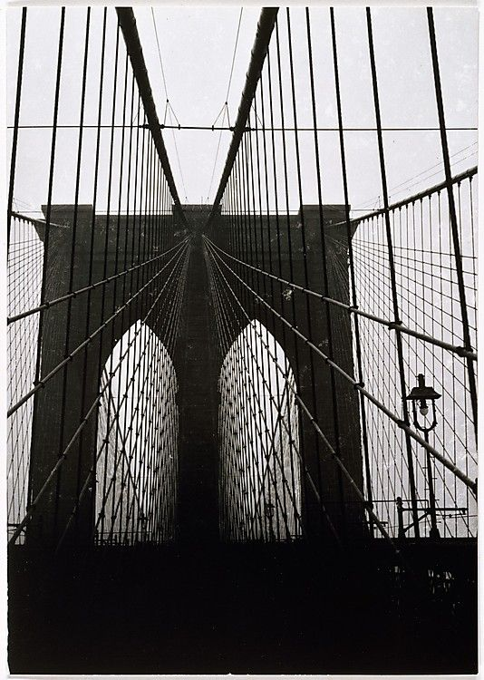 Walker EVANS :: Brooklyn Bridge, New York, 1929
