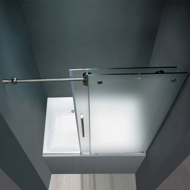 frosted sliding bathtub glass doors