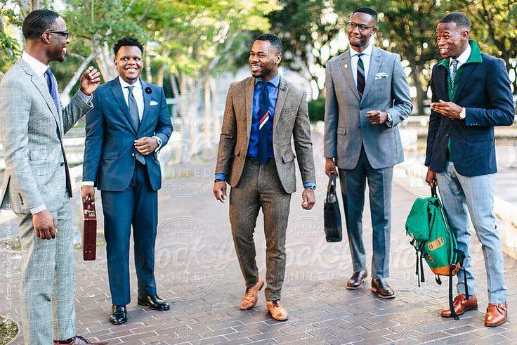 Group of gentlemen laughing together by poorartist | Stocksy United
