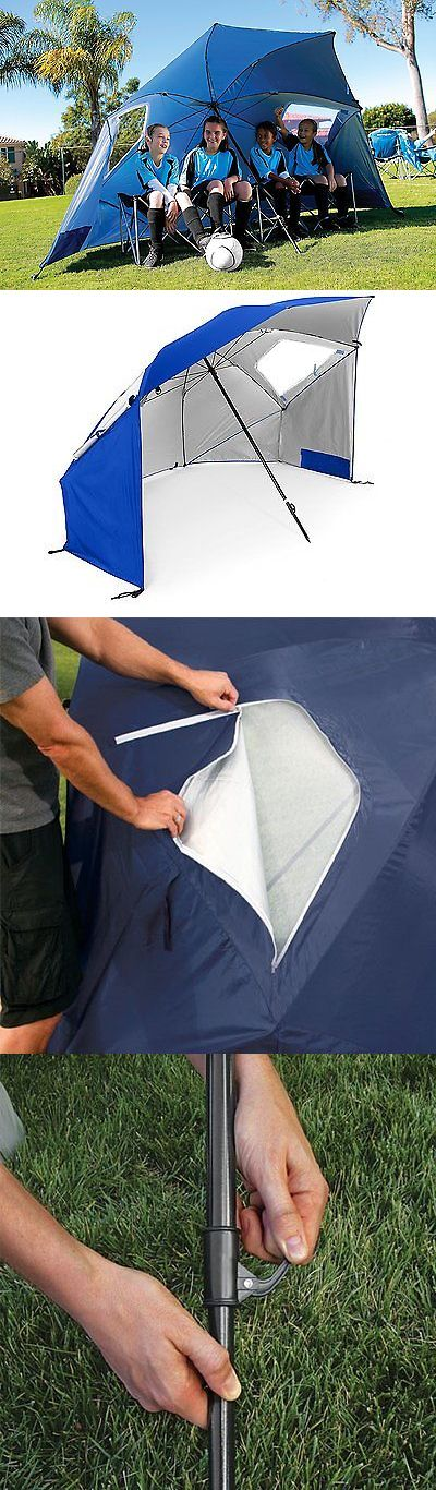 Canopies and Shelters 179011: X-Large Pop Up Outdoor Umbrella Sports Portable Weather Shelter Brella 96 Blue -> BUY IT NOW ONLY: $55.23 on eBay!