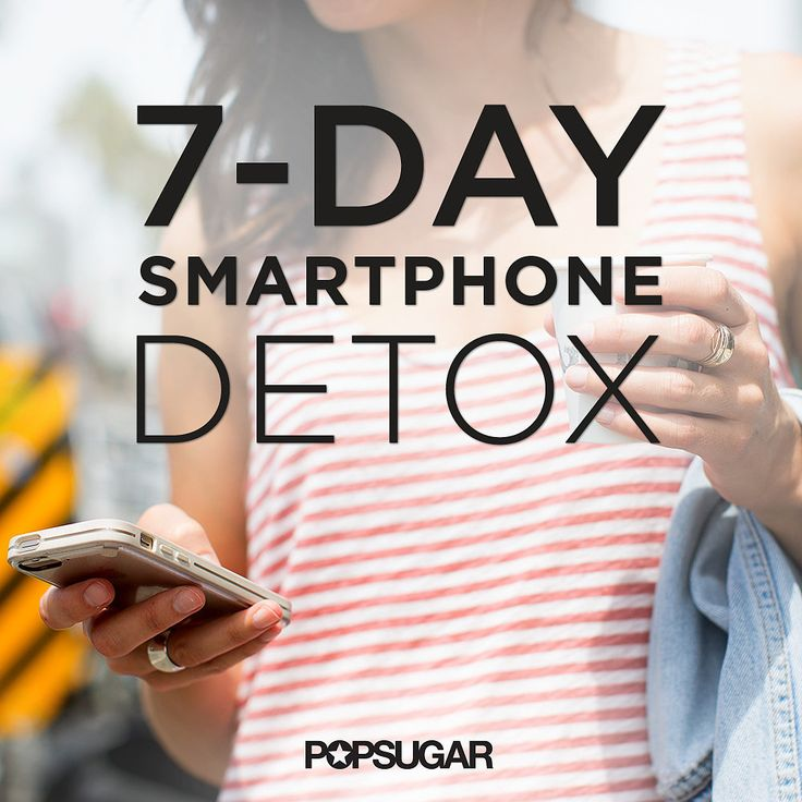 A 7-Day Detox For Your Smartphone Addiction: We're the first people to joke about being addicted to smartphones, but being too obsessed is unproductive and unhealthy.