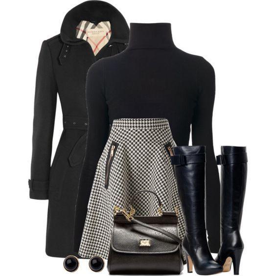 17 Schwarze Rollkragen-Outfit-Ideen, die Sie in di…