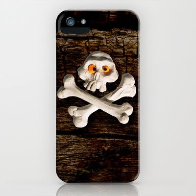 Mr. Skull iPhone & iPod Case by Martin Misik - $35.00 // #iphone #mobile #case #art #society6 #skull #wood #skeleton #plasticine #clay #sculpting #funny #bones #yellow #eye