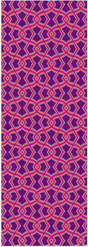 Diamond Shapes on Purple Yoga Mat by Terrella