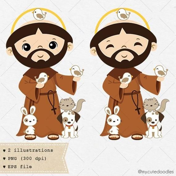 Product Code C018 04 See All The Saints Availabe Here Https Www Etsy Com Shop Mycutedoodles Ref Seller Platform Mcnav St Francis Rock Painting Art Clip Art