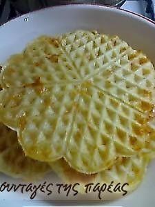 Βάφλες με τυρί