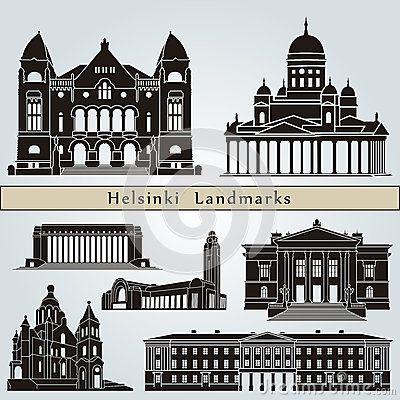 Helsinki landmarks and monuments by Domiciano Pablo Romero Franco, via Dreamstime