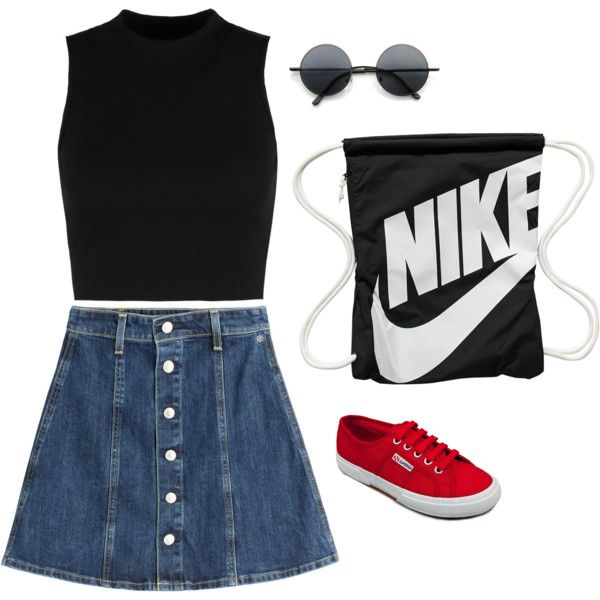 by agneslilian on polyvore featuring wood wood, ag adriano goldschmied, superga and nike