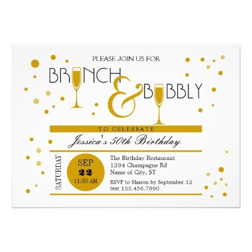 12 best party | brunch invitations images on pinterest | brunch, Birthday invitations