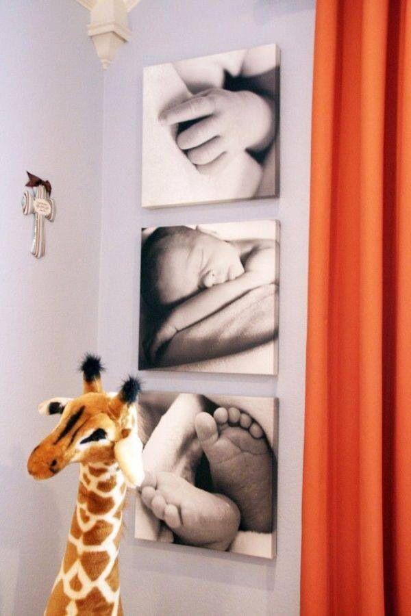 Ideia para decoração de quarto de bebê!                                                                                                                                                     Mais