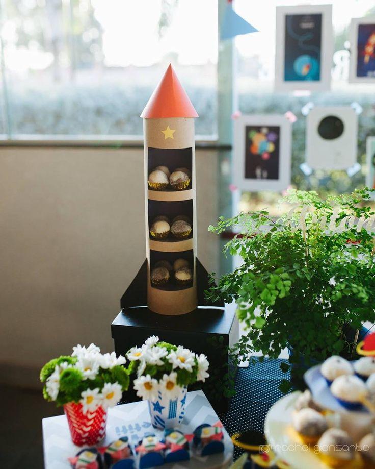 """40 curtidas, 2 comentários - Gabi De Lorenzo 🇧🇷🇺🇸 (@gabidelorenzo) no Instagram: """"Peça de doces em formato de foguete, desenvolvida especialmente para essa festa no céu! #feitoàmão…"""""""