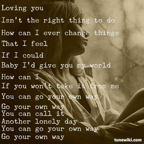 Fleetwood Mac – Go Your Own Way Lyrics | Genius Lyrics