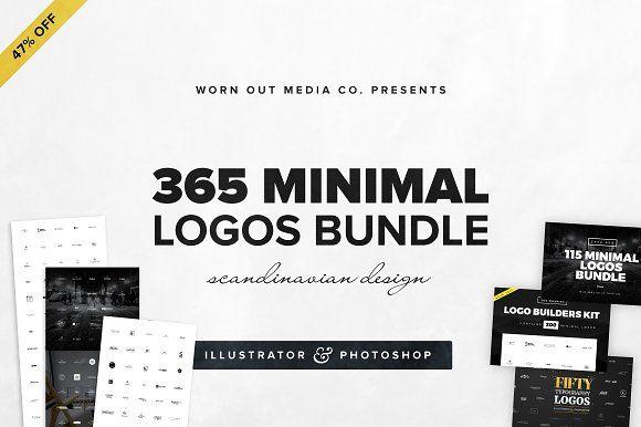 [44% OFF] 365 Minimal Logos Bundle by WornOutMedia Co. on @creativemarket