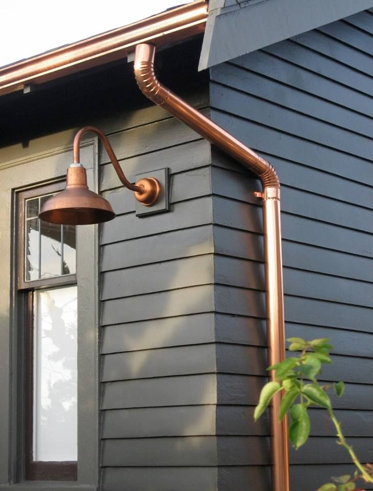 Copper Barn light fixtures from Barn Light Company. #PRAIRIElectric #electrician #copper http://www.barnlightelectric.com/