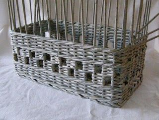 Handmade: Шахматное плетение из газетных трубочек