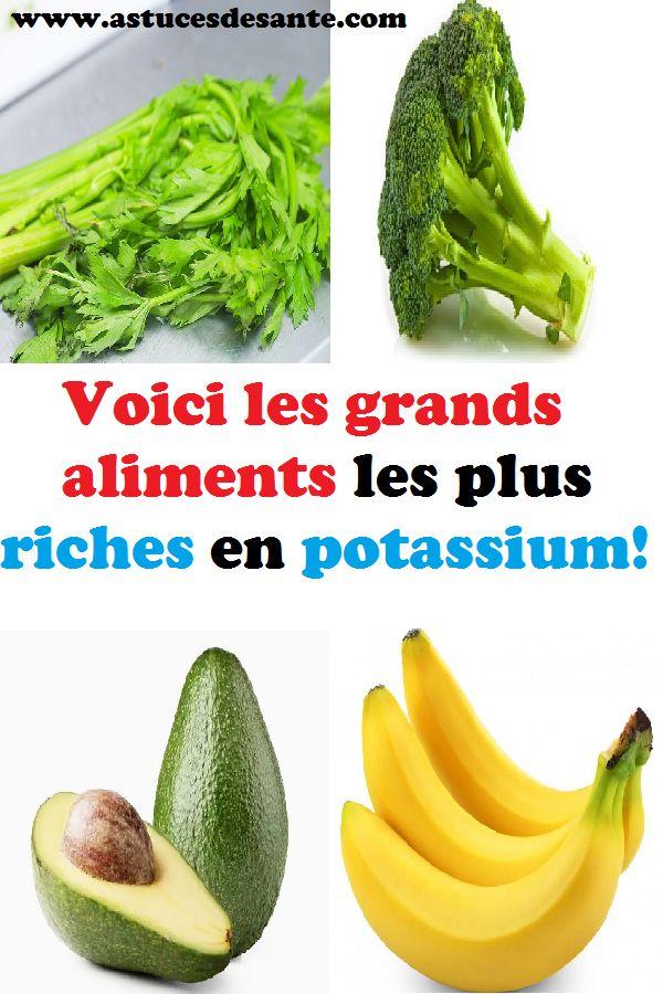 Voici les grands aliments les plus riches en potassium! #..