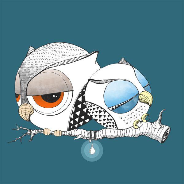 Sowulki :) #sowulka #owls #owl #drawing #fabercastell #illustration #sowa #cute #couple