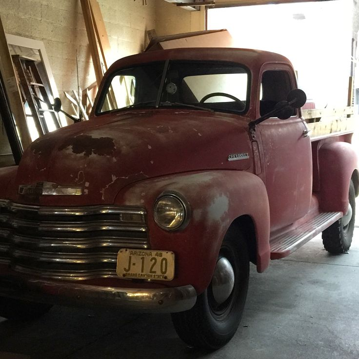 Old red Chevy truck! Want!!! Instagram: @crumbsinmycloset