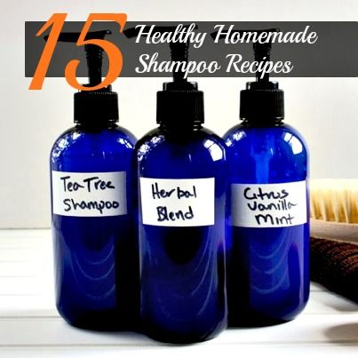 15 Healthy Homemade Shampoo Recipes