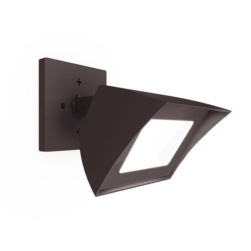 "Endurance Flood Outdoor/Indoor Wall Light  by WAC Lighting  Y Lighting $161.50  Dimensions: 6""W X 4.75""H; 4.88"" Extension Lamp Type: LED  fully rotates and has motion sensor attachment"