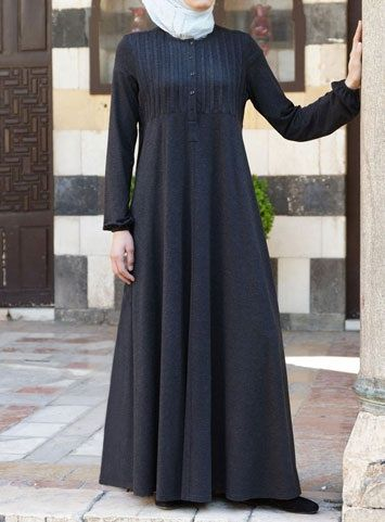 Abaya with Tucks Save 44% Black color  An Islamic fashion classic, this soft and serene abaya is a design you won't want to take off. Comfortable jersey fabric, a forgiving cut, a long neck opening for nursing mothers…Modesty was never so easy.