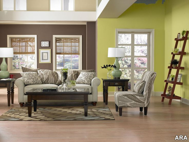 Amazing Living Room | Green/Brown