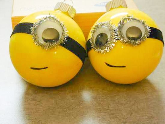 DIY Minion Christmas Ornaments