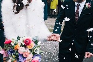 Colourful Romantic Winter Wedding by Robbins Photographic