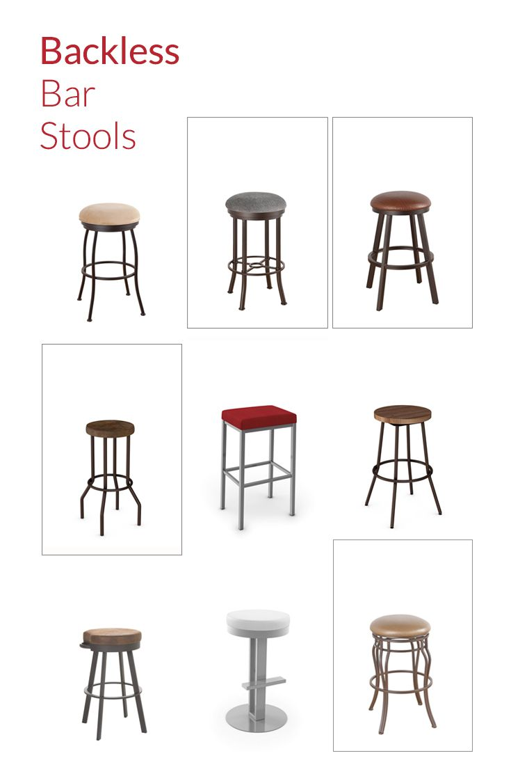 Backless bar stools are great for small spaces, kitchens, and home bars.