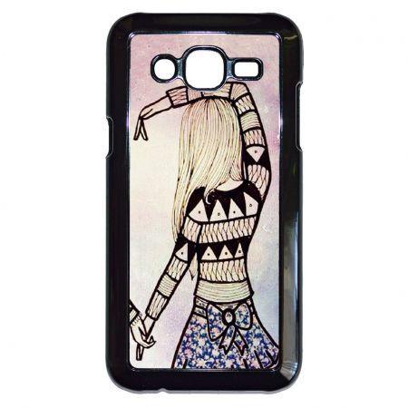 Barátnők örökké... - PÁROS tok, fekete kerettel műanyag Samsung Galaxy J5 tok, fekete kerettel műanyag