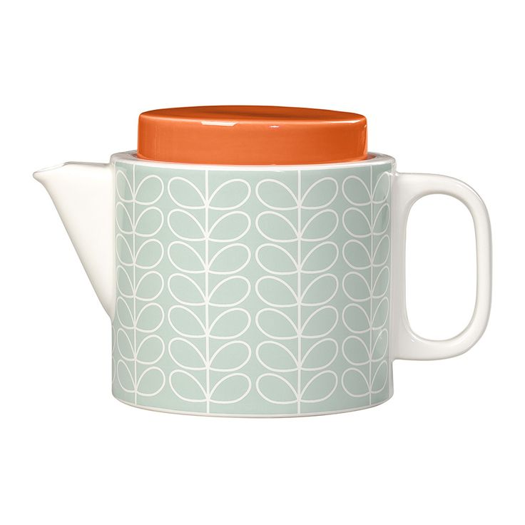 Buy Orla Kiely Linear Stem Teapot - Duck Egg | Amara