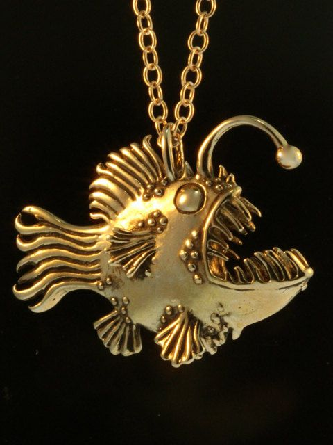 Fish+Necklace+Large+Angler+Fish+Necklace+Bronze+Fish+by+martymagic