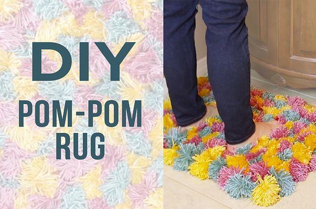 This Fluffy Pom-Pom Rug Is Cozy AF