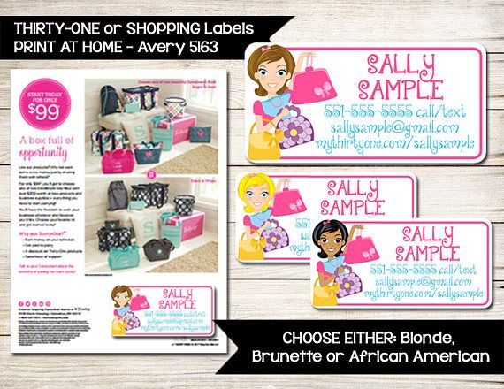 THIRTY-ONE Labels Catalog Order Form Avery 5163 Label - custom order form