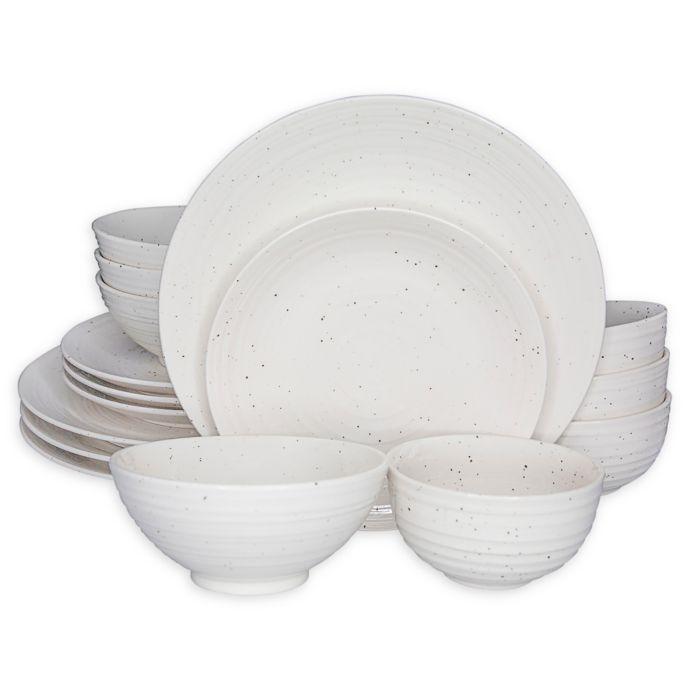 Sango Siterra 16 Piece Dinnerware Set In White Bed Bath Beyond Dinnerware Tableware Dinnerware Sets