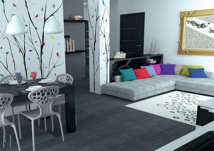 Flowery Wallpaper #13seven #interiordesign #homedesign #arredamentointerni #interiordecoration #furniture #homedecoration #lovedesign #industrialdesign #industrialfurniture #wallpaper