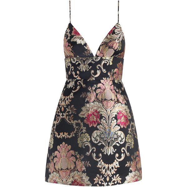 ZIMMERMANN Mischief Wallpaper Dress ($365) ❤ liked on Polyvore featuring dresses, vestidos, short dress, zipper back dress, strap dress, flower pattern dress, short dresses and flower print dress