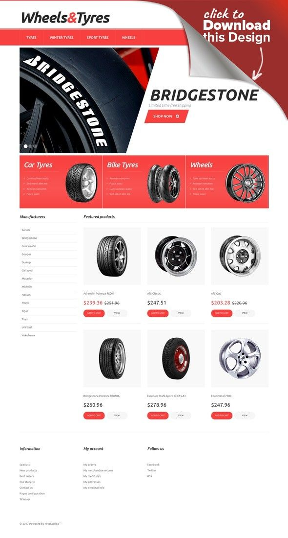 Wheels And Tyres Presta Theme Best Website Templates WordPress Themes Pinterest Template