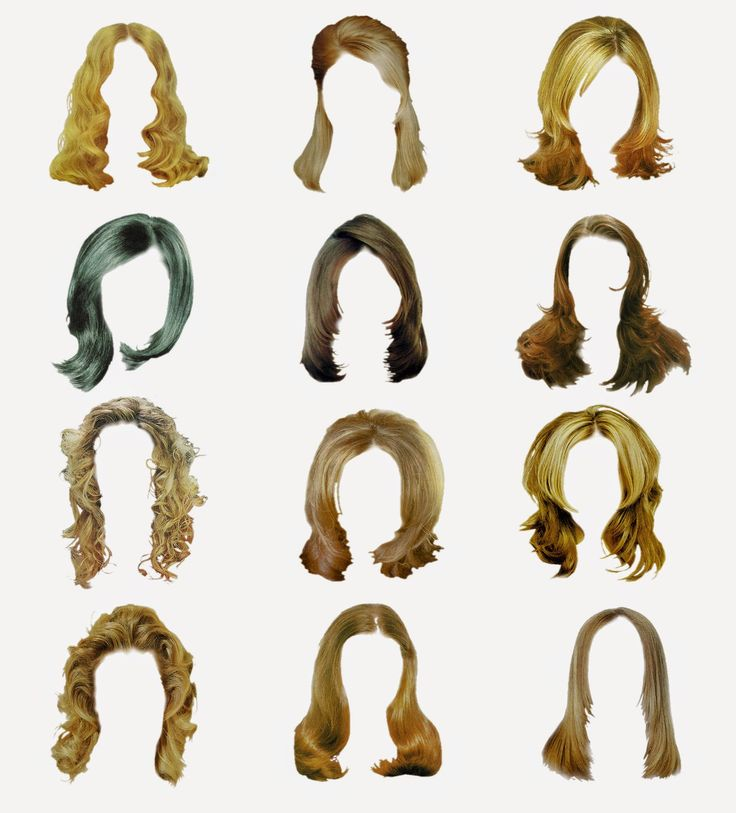 12 Women hair style psd in file - Lucky Studio 4U