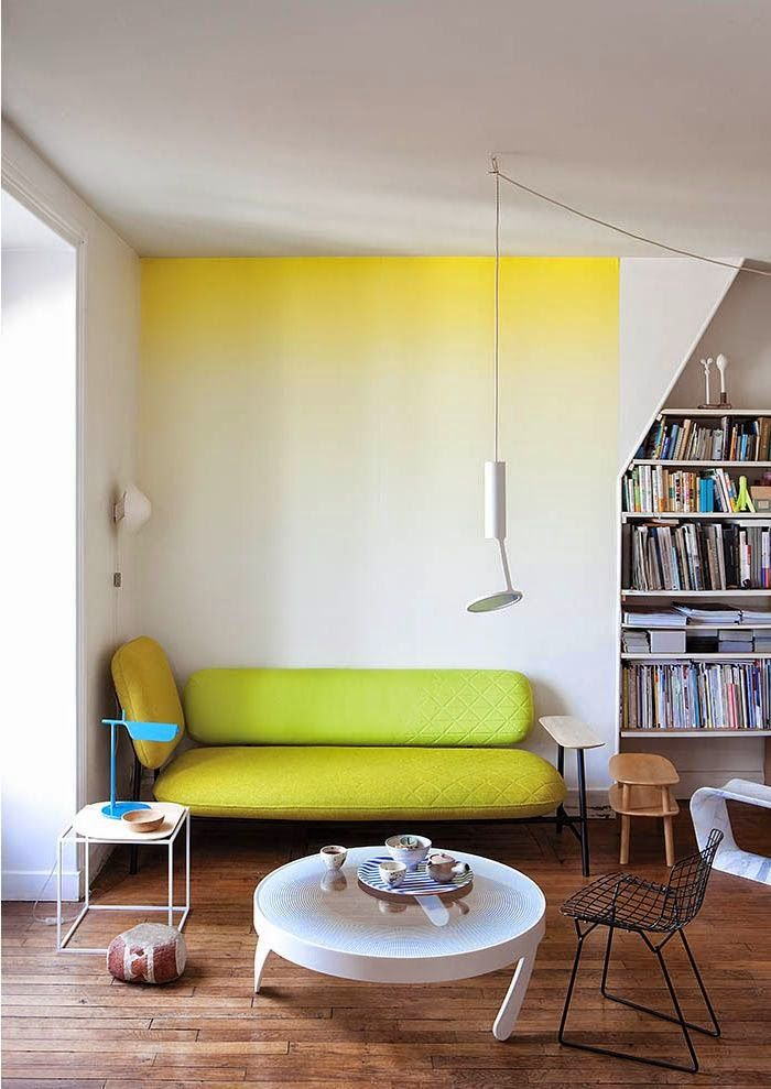 Ombre wall paint to add color without being too bold?