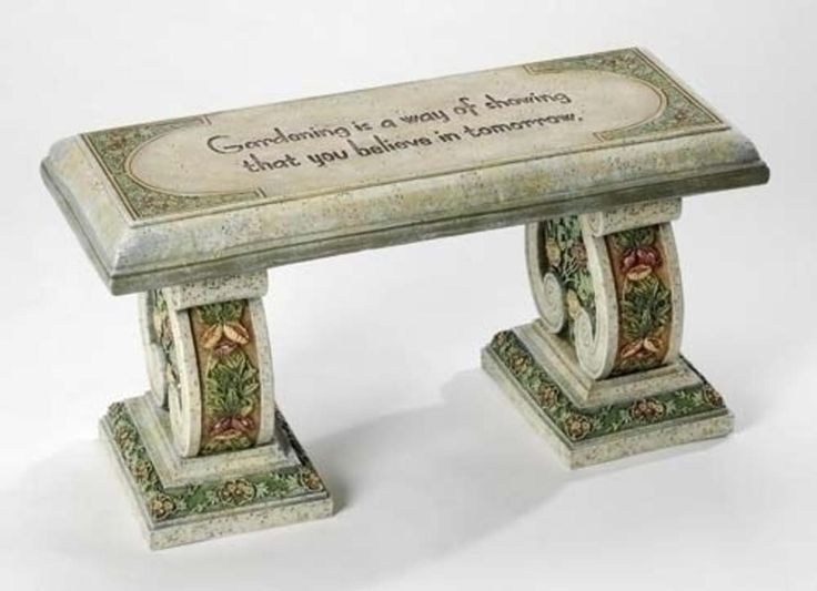28.5 Joseph's Studio Victorian Floral Outdoor Garden Bench with Verse 6359972 | ChristmasCentral