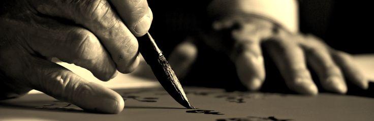 copyright: ludovico maria gilberti #Vietnam #Hanoi #writer #hand #ideogram #paintbrush #chinese character