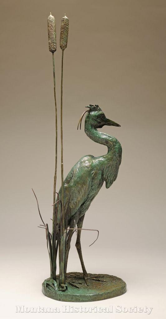 2000.15.84, The Great Blue Heron (back), Bob Scriver, Bronze, 1977