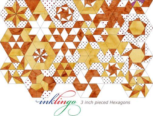 Inklingo Hexagon Quilt Patterns | CANDIED HEXAGONS