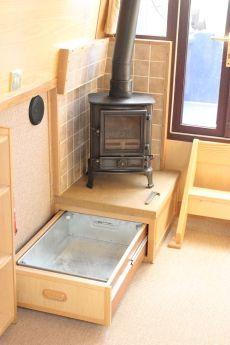 Under-stove drawer.