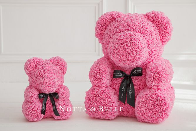 Notta Belle 3d Teddy Bear Made Of Roses Uk Free Delivery Valentines Rose Handmade