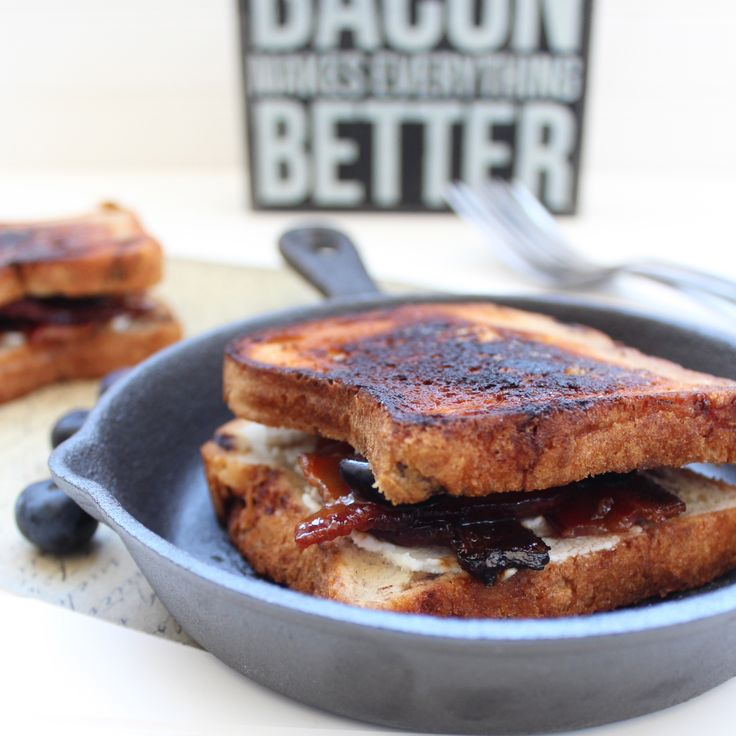 Making these this week!!! Candied Bacon Goat Cheese Blueberry Grilled Cheese